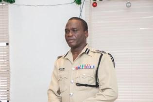 Commissioner of Police Leslie James DSS addressing the officers.