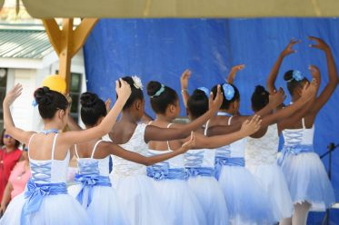 Ballet dancers as the enchanted the crowd