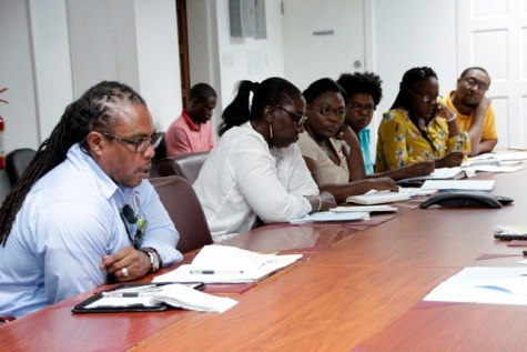 Representatives from the various Ministries at today's Technical Working Group meeting.