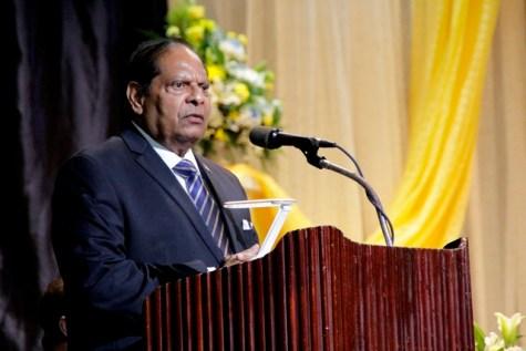 Prime Minister, Hon. Moses V. Nagamootoo.