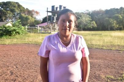 Janet Francis, a Community Health Worker of Yupukari Village.