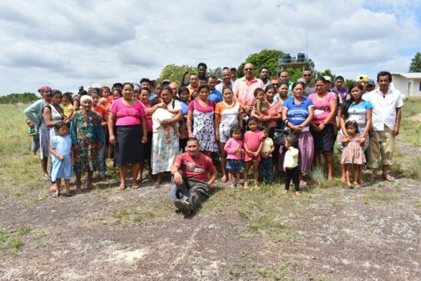 GWI officials and residents in Kicumbay.
