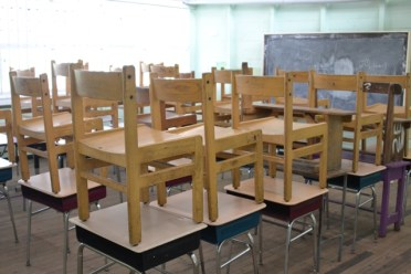 A clean and prepared classroom at one of the schools visited by Minister of Education, Dr. Nicolette Henry.