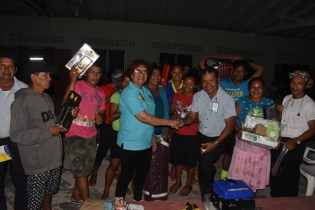 Youths of Awerawarnau receiving their Resource Kits.