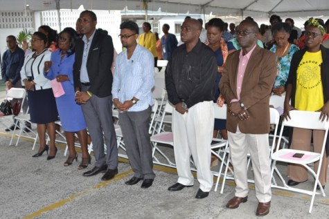 The gathering at the sunrise service hosted by the Ministry of Public Health.