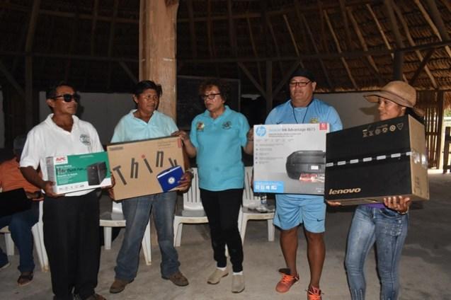 Youths of Maruranau Receiving their Resource Kits.