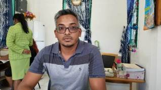 Doctor in Charge, Port Mourant Hospital, Davendra Radhay.