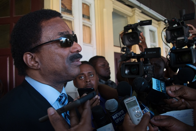 AG Basil Williams, SC addresses the media following the court case today.