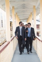 Attorney General and Minister of Legal Affairs, Basil Williams, SC. and Anil Nandlall leaving the court today.