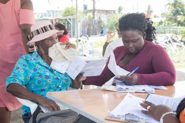 A senior Citizen getting registered