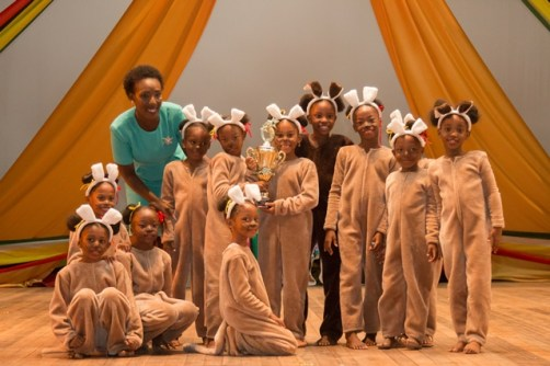 """First place, Comenius Primary, """"Animal Party""""."""
