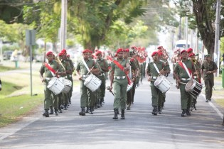 The Guyana Defence Force (GDF) Band during the parade.