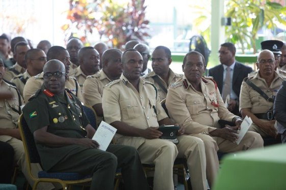 Senior Officer of the Guyana Police Force (GPF) gathered at the Annual Police Conference.