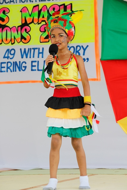 Student from Huis't Dieren Primary School that placed first in the -Dramatic Poetry 5 to 7 Category.