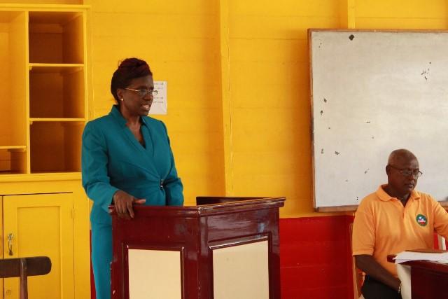 Permanent Secretary, Delma Nedd.
