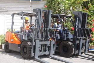 New Doosan Forklift Trucks.