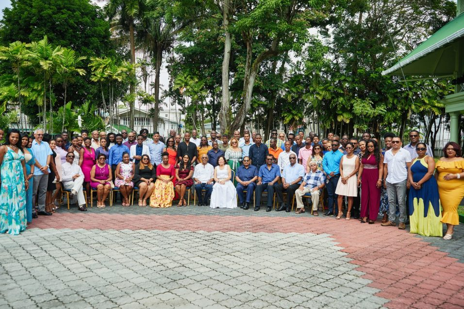 President David Granger, this morning, hosted his annual Media Brunch at the Baridi Benab, State House, Georgetown