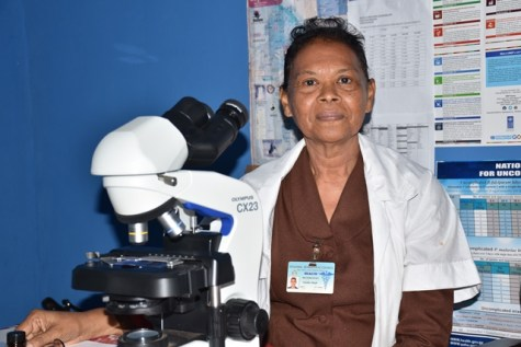 63-year-old Microscopist, Nathalie Singh.