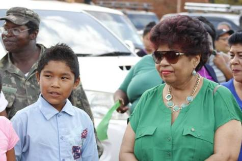 Minister of Social Protection, Amna Ally, during her trip to Region 9, Upper Takatu-Upper Essequibo this weekend.