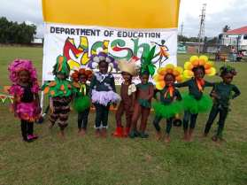 Some of the children in the 2019 Linden Children's Mash Costume Competition