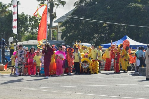 A section of The Chinese Association of Guyana revellers.