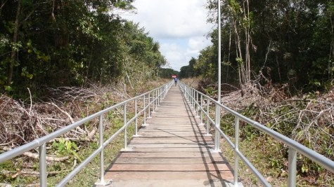 The newly constructed Bridge at Wakapoa.