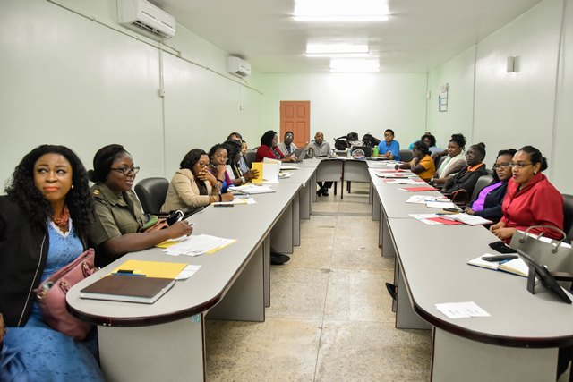 Stakeholders gathered at the Civil Defence Commission's headquarters this morning for the one-day consultation on Disaster Risk Reduction (DRR) Actors in Guyana. The forum seeks to develop a Protocol for the Integrated Protection of Children and Adolescents in Disaster Situations.