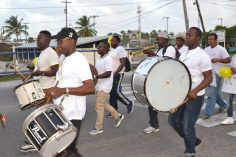 Members from the Guyana Police Band