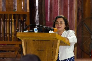 Laura George of the Amerindian Peoples' Association