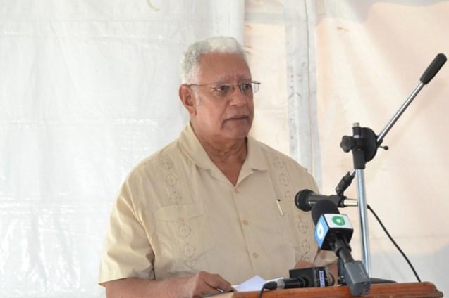 Honourable Minister of Agriculture, Noel Holder.