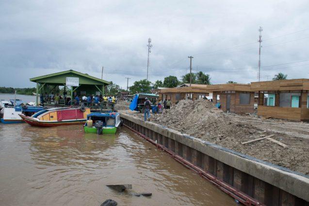 The Supenaam Stelling under rehabilitation works