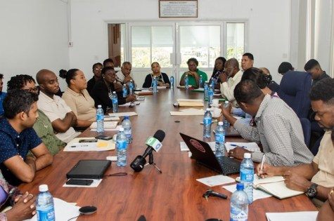 Stakeholders interact during Friday's meeting of the National Working Group on the Minamata Convention on Mercury.