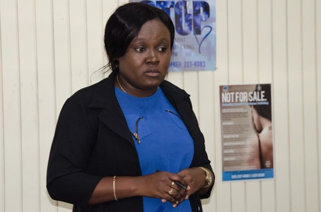 Coordinator of the Counter-Trafficking Unit, Tanisha Williams-Corbin.