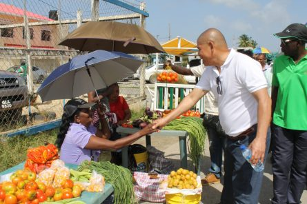 Scenes from Minister Norton's walkabout in villages along the Essequibo Coast, Region Two