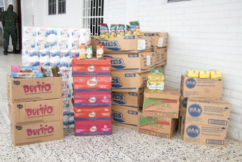 Some of the items donated to the Civil Defence Commission (CDC) for distribution.