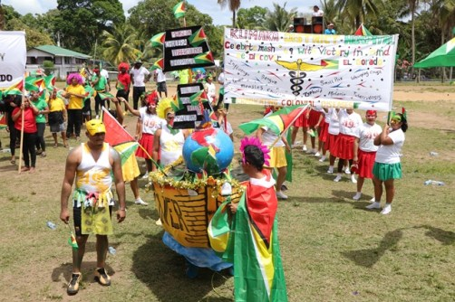 The Kumaka district hospital joins the parade on Saturday.