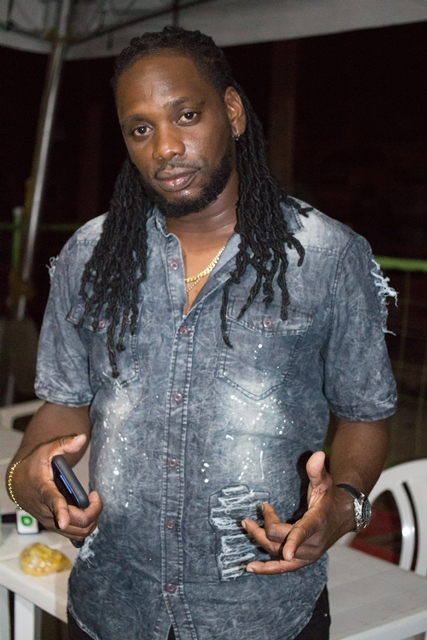 Participant of the Banks Calypso Monarch competition, Kwesi Ace.