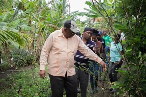 Minister of Finance, Winston Jordan in Mocha.