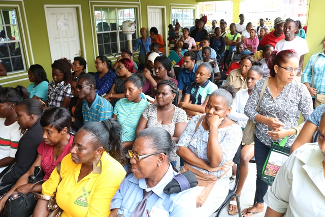 A section of the gathering at cluster the compound of the Democratic Regional Council, Region 3.