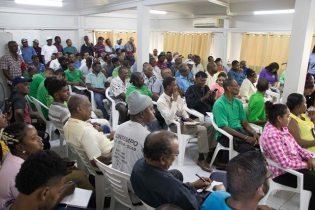 Farmers turned out in their numbers to interact with Prime Minister, Moses Nagamootoo and Minister of Agriculture, Noel Holder.