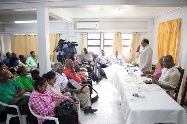 Prime Minister, Moses Nagamootoo addresses Essequibo farmers.