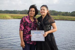 A proud parent and a graduate