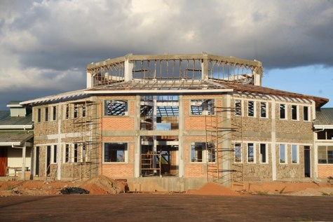 Ongoing construction of the Lethem Industrial Estate.