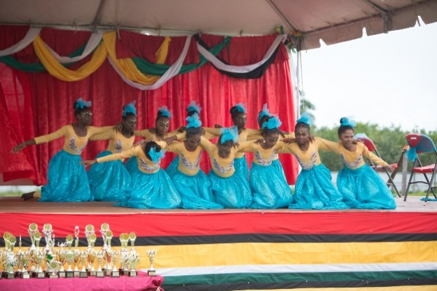 A dance performed by students in the 10-12-year-old category.