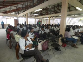 A section of the audience of youth at the oil and gas forum