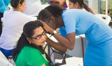 Scenes from the medical outreach.