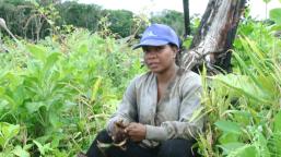 Lisa Fraser in her farm.