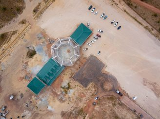 Aerial view of the Lethem Business incubator and Industrial Estate