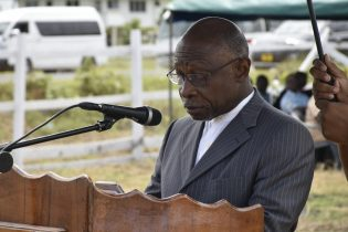 Minister of Foreign Affairs, Carl Greenidge addressing the gathering