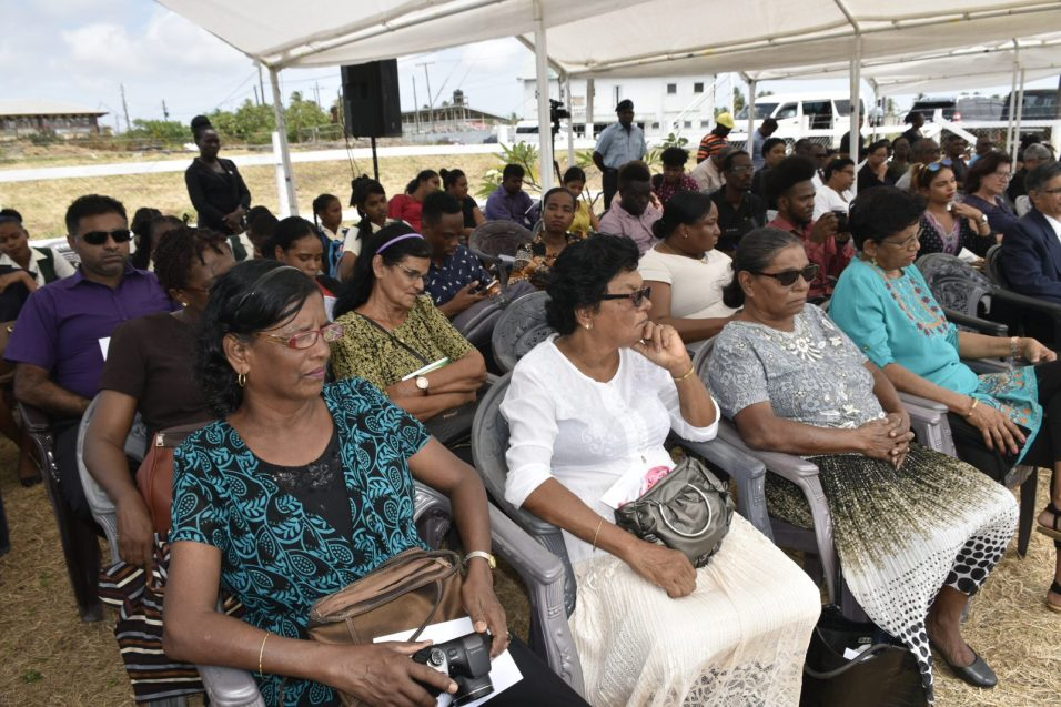 Family of the slain workers at the memorial
